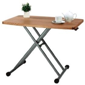 高さ調整が自由なリフティングテーブル リビングテーブル m006-