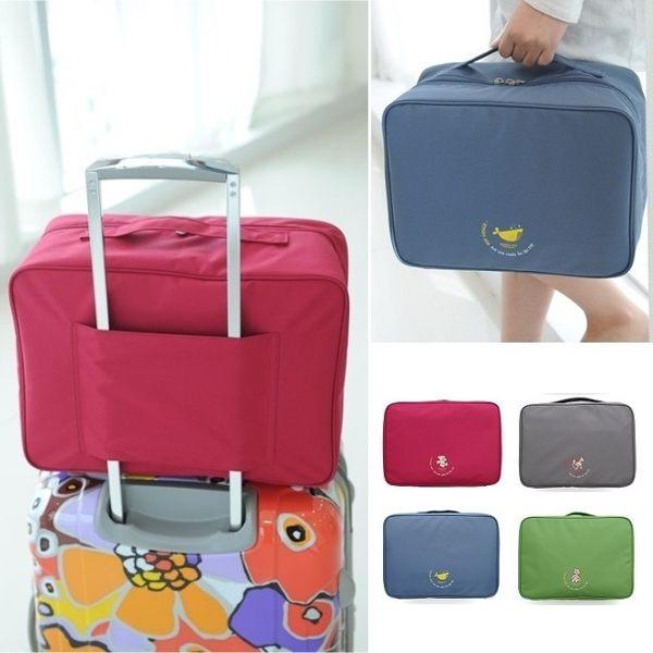 韓版 大容量行李拉桿包旅行袋 收納包盥洗包 登機箱 旅行箱行李箱外掛防水包 內衣褲【RB339】
