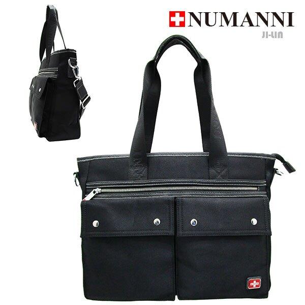 5-P807E【 NUMANNI 奴曼尼 】質感橫式造型扣環肩背包