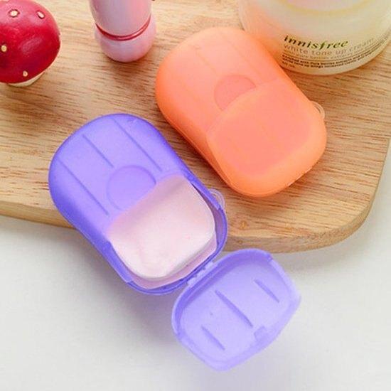 便攜式洗手香皂紙  消毒 抗菌 迷你 清潔 衛生 肥皂 戶外 兒童 殺菌 ♚MY COLOR♚【M131】