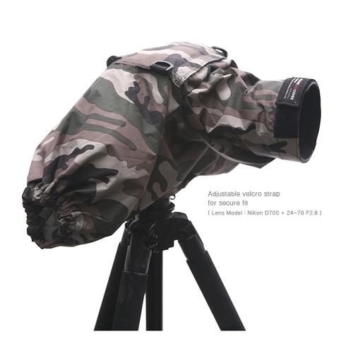 韓國Matin單眼相機隔音罩M-7101(可雙手操作,叢林迷彩適打鳥拍鳥音樂會演說表演)雙袖防水罩