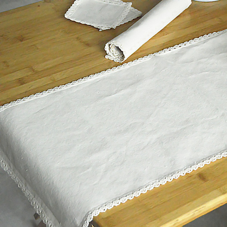 zakka 30x40cm純天然棉麻原色桌墊/蕾絲隔熱墊/純色棉麻餐墊/布藝滑鼠墊 天然材料原色