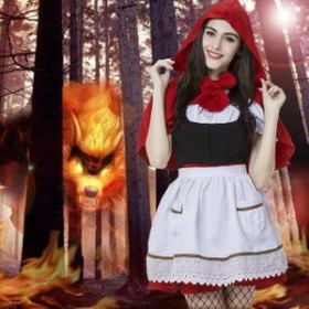 赤ずきん コスプレ 子供 赤ずきんちゃん 衣装 コスチューム ハロウィン 仮装 魔女 巫女 女王 悪魔 女性 ワンピース イベント サンタ コス