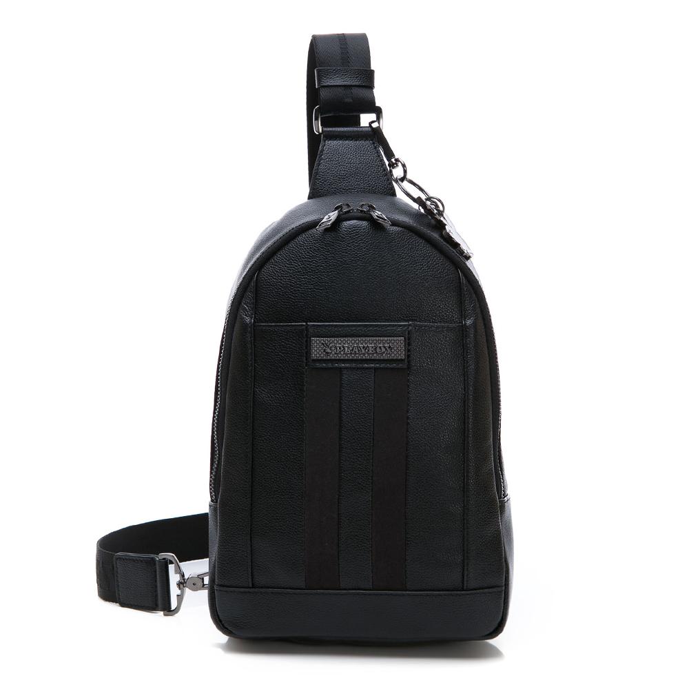 PLAYBOY- 單肩背包 NEW AGE系列-黑色
