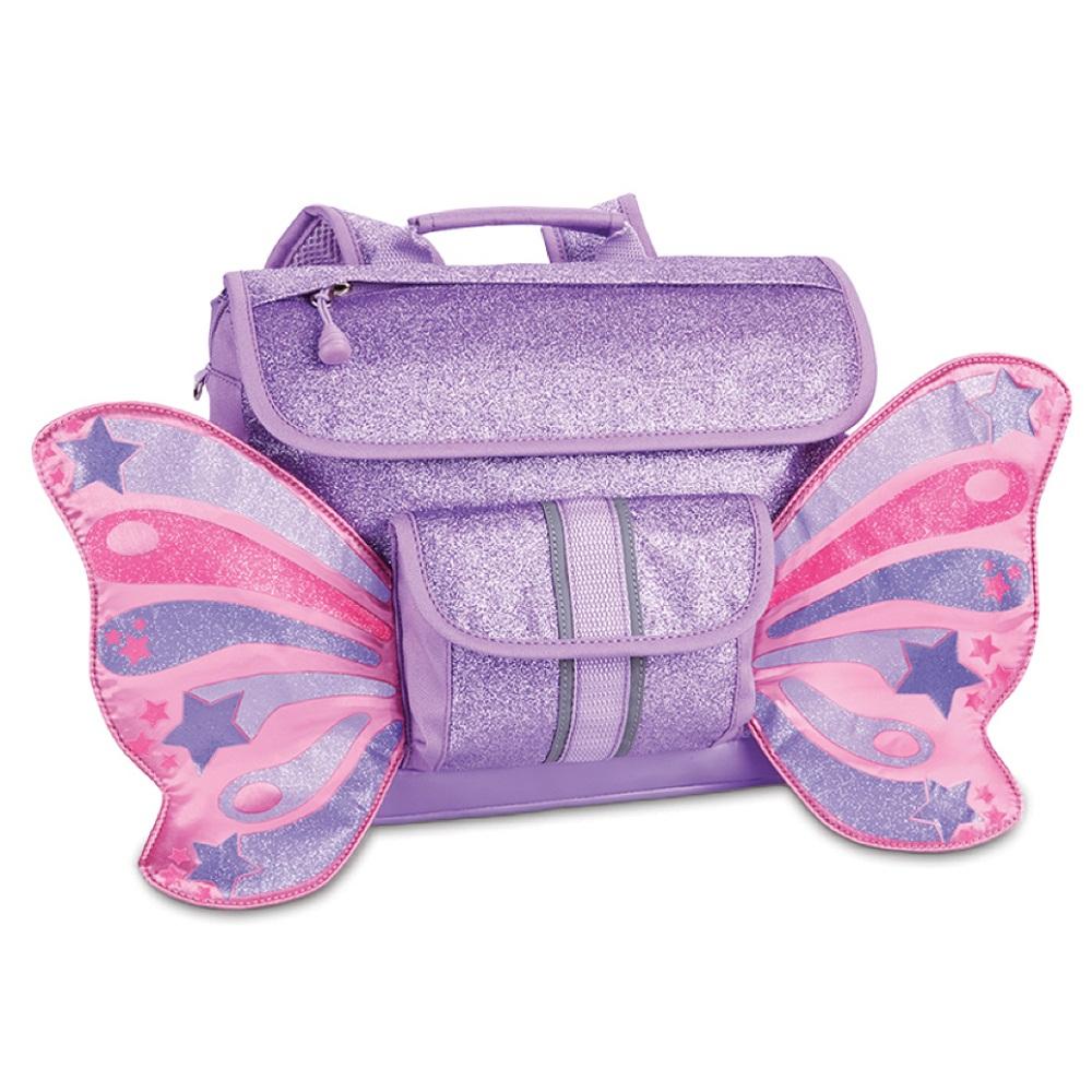 美國Bixbee 飛飛童趣系列-粉紫閃閃蝴蝶小童背包