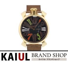 ガガミラノ マヌアーレ スリム 46mm 5081.5 BLK LIMITED ブラックリミテッド 250本限定 PGP ピンクゴールド クオーツ メンズ 腕時計 A+ランク