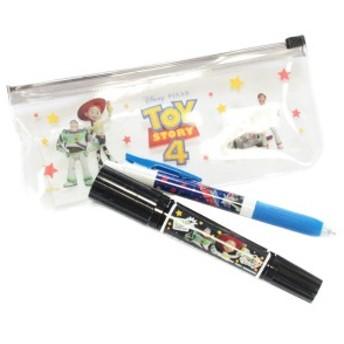 トイストーリー4 ペンセット DZ-80588 ブラック ディズニー ピクサー 筆箱 文房具 ペンケース ステーショナリー デルフィーノ ネコポス可