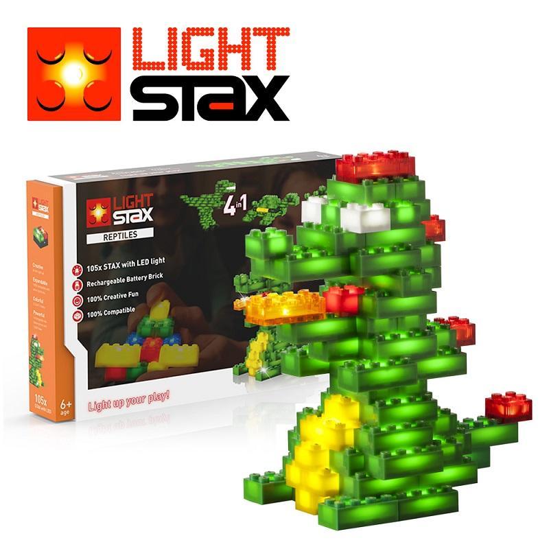 創意LED積木(鱷魚4合1)