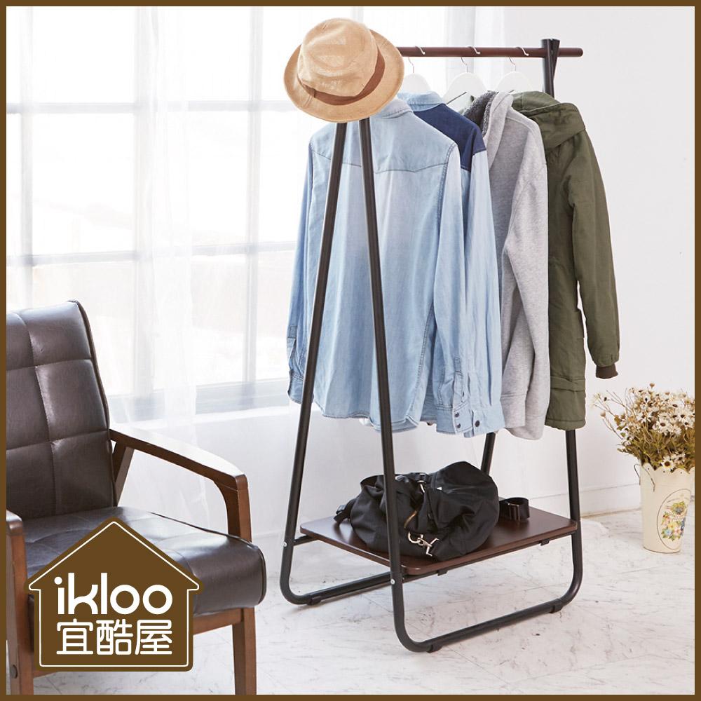 【ikloo】日系A字型掛衣架/吊衣架(兩色可選)