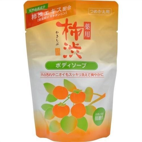 日本 熊野油脂 柿澀沐浴乳 350ml 補充包