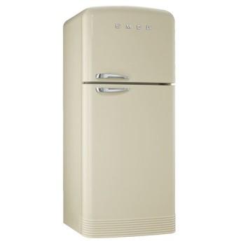 SMEG(スメッグ) 2ドア冷凍冷蔵庫468L/右開き 200Vクリーム/シルバーハンドル FAB50P