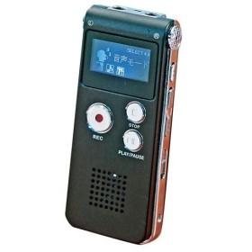 小型 ボイスレコーダー/デジタル録音機 〔幅約3.5cm〕 軽量 重さ約40g 充電式 最大録音時間約279h イヤホン USBケーブル付き〔代引不可〕