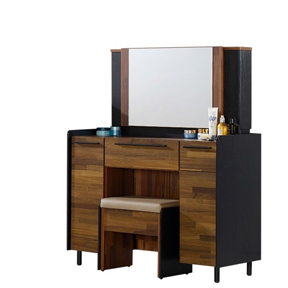 H&D-畢卡索3尺雙色鏡台[含椅]