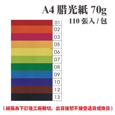 A4 腊光紙 70磅 (110張) /包 ( 此為訂製品,出貨後無法退換貨 )
