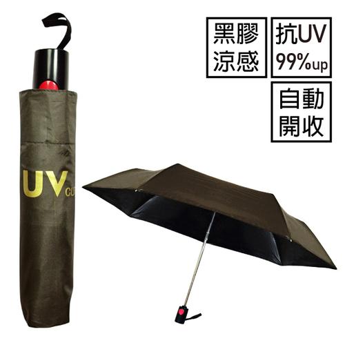 飛蘭蔻 3184 黑膠自動開收涼感傘 1入