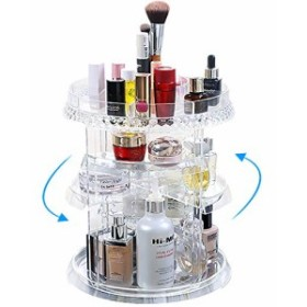 Miserwe メイクアップオーガナイザー 360度回転 7層 調節可能 収納 様々な種類の化粧品を収納 多機能 大容量メイクアップストレージオー