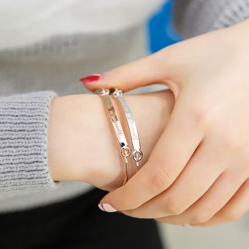 買就送刻字 歐美ig爆款勵志悄悄話白鋼手環 單個價 獨家紫色款-ajs041