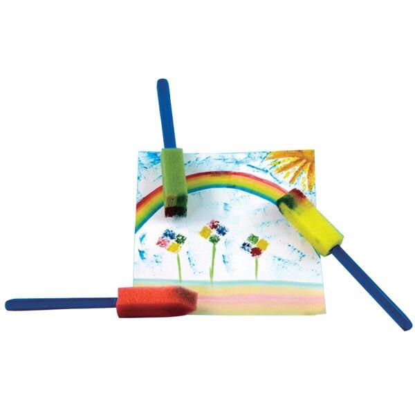 【華森葳兒童教玩具】美育教具系列-圓形海綿彩繪刷 L1-AP/125/DS