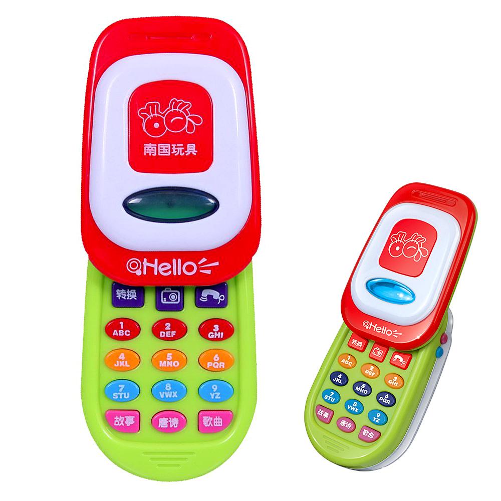 故事電話手機-滑蓋手機設計燈光音效學習趣味成長玩具