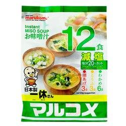 [哈日小丸子]丸米一休味增湯-減鹽口味(12入)