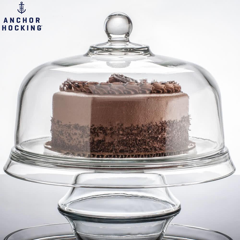 美國安佳 anchor 三合一多功能蛋糕盤 玻璃蛋糕盤 玻璃盤 雞尾酒皿 點心盤
