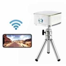 STABLEi 超小型 レーザープロジェクター ミニ iPhoneおよびandroid スマートポータブル DLP120 1080P LCD ワイヤレスBluetooth Wi-Fi ピ