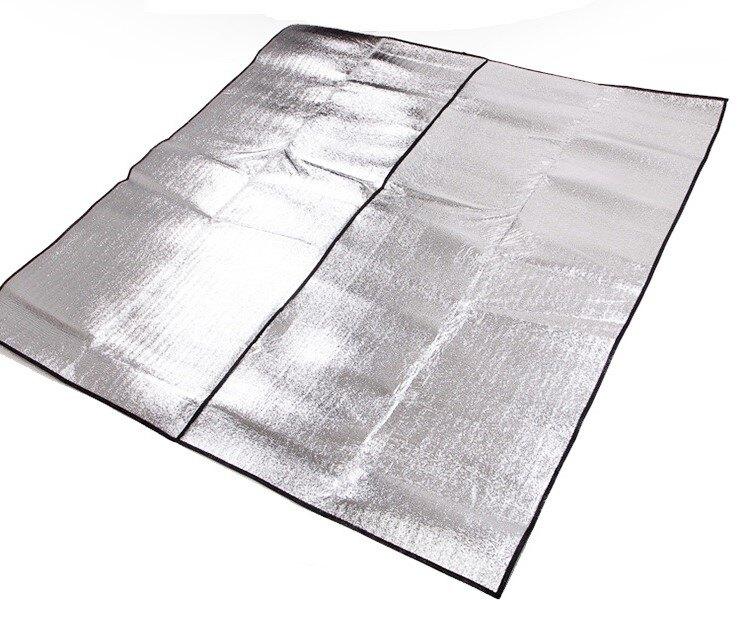 【露營趣】TNR-135 300x300 帳篷用 雙面鋁箔墊 鋁箔墊 防潮墊 露營墊 野餐墊 地墊 睡墊