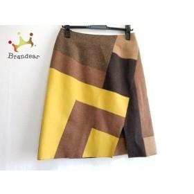 ネミカ スカート サイズ1 S レディース 美品 ダークブラウン×ブラウン×マルチ パッチワーク   スペシャル特価 20190913