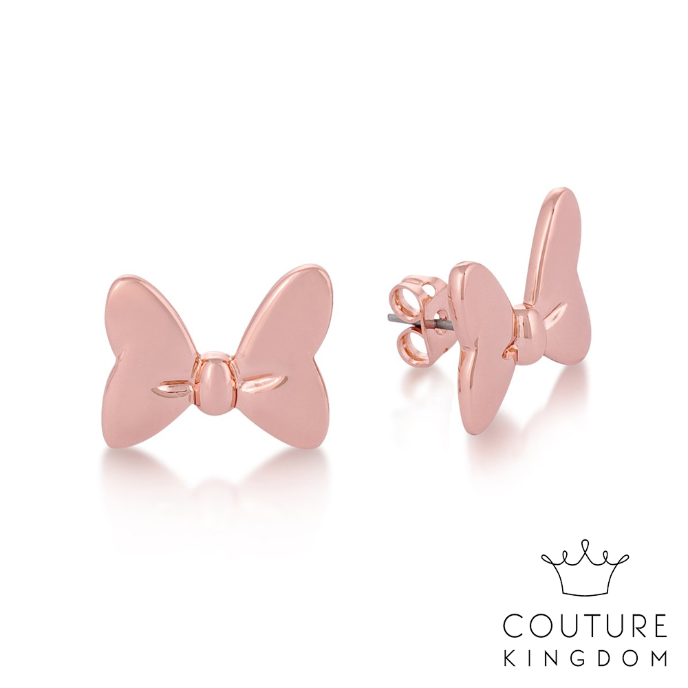 Disney Jewellery Minnie Mouse Bow Studs by Couture Kingdom 迪士尼米妮 蝴蝶結鍍14K玫瑰金耳釘