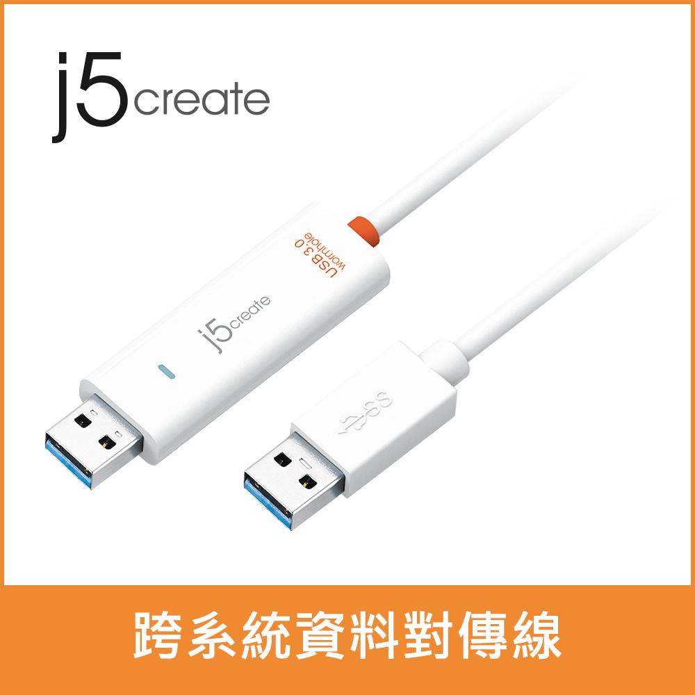 ★快速到貨★【j5create 凱捷】 USB 3.0 跨系統資料對傳線(JUC500)
