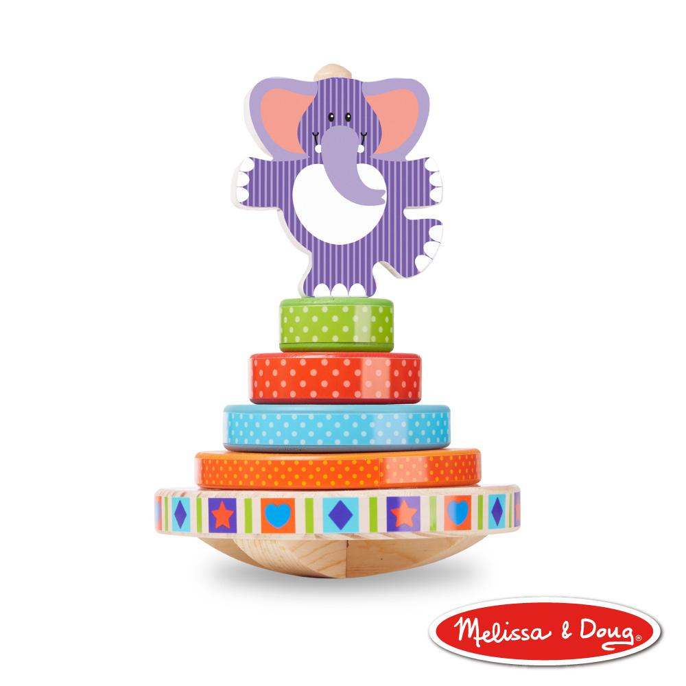 美國瑪莉莎 Melissa & Doug 幼兒啟發 - 搖擺大象疊疊樂