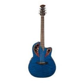 Ovation (オベーション) CE44P-8TQ エレアコ, Trans Blue Quilt Maple アコースティックギター アコギ