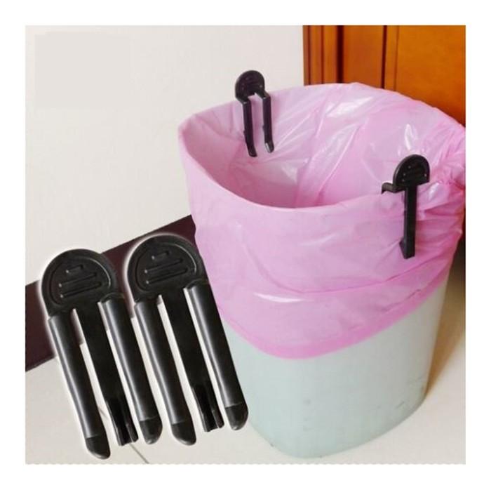 垃圾桶固定夾2入組  垃圾袋防滑夾