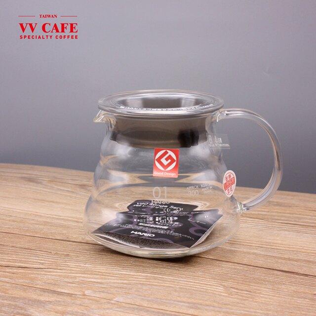HARIO 全玻璃雲朵下壺 360c.c 1-2人份 XGS-36TB 分享壺 咖啡下壺《vvcafe》