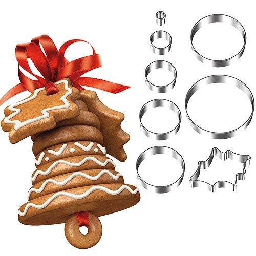 《TESCOMA》立體餅乾切模8件(聖誕鈴鐺)