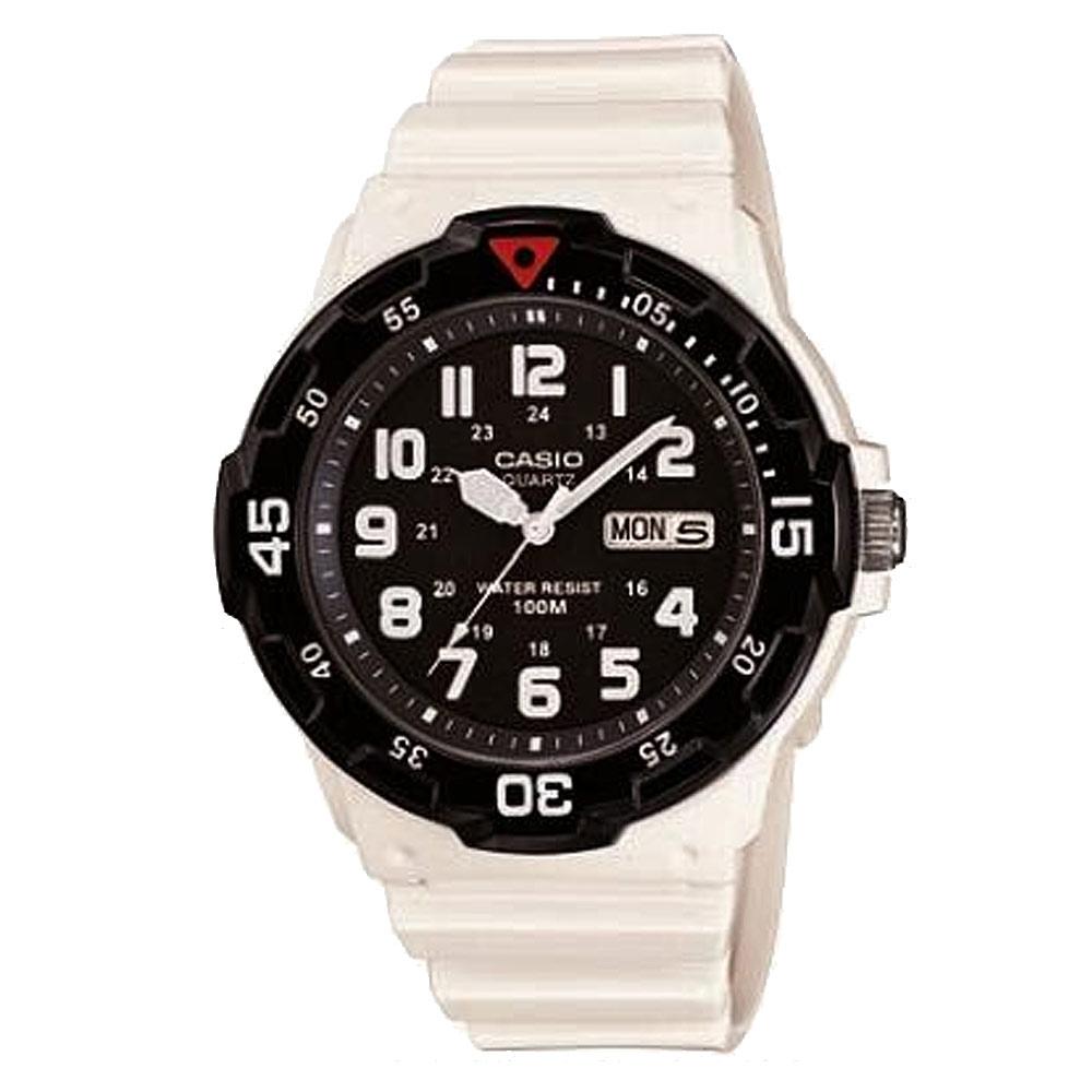 【CASIO卡西歐】潛水風防水手錶-黑面白衣戰士 (MRW-200HC-7B)