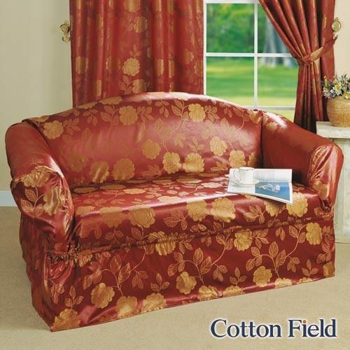 棉花田Cotton Field 彩妍 提花單人沙發便利套 紅色