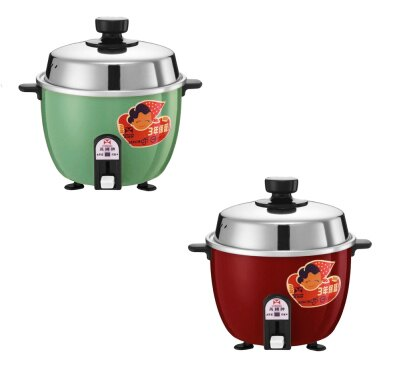 (現貨紅色)不鏽鋼內鍋~萬國牌3人份自動保溫電鍋 AQ-3S/AQ3S