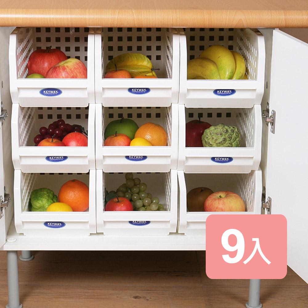 《真心良品》箱根深型櫥櫃收納置物架(9入)
