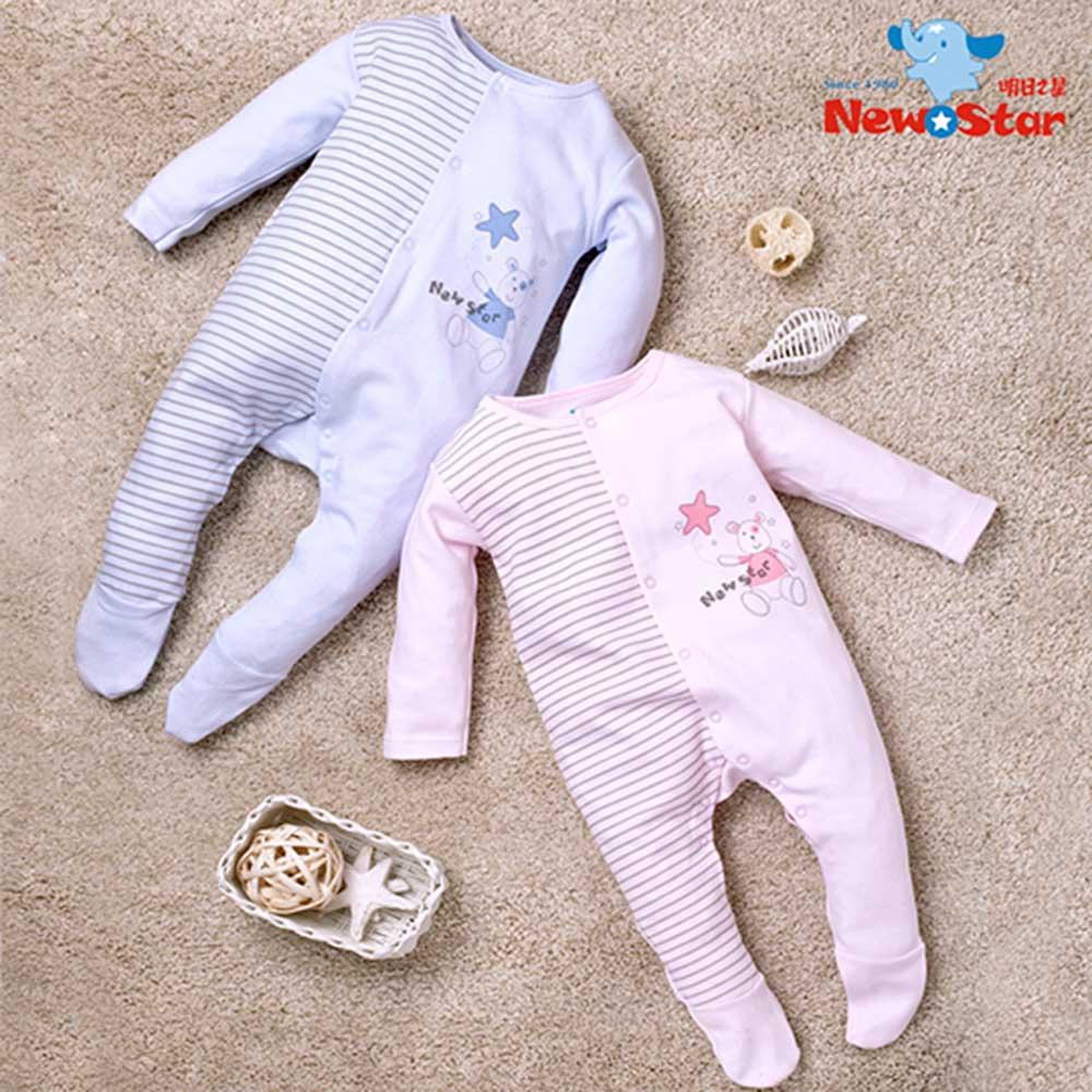 Newstar明日之星 嬰兒腳套兔衣(厚、長袖長褲、全釦)6M