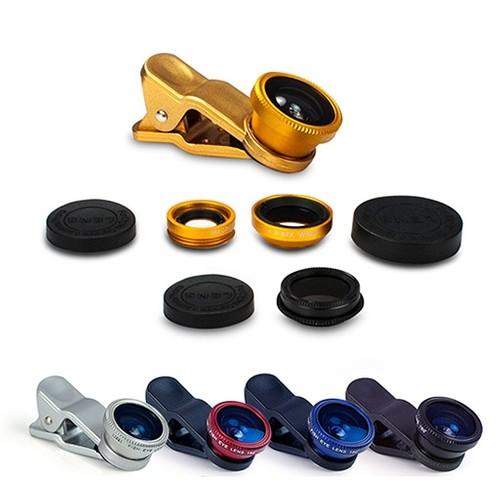 偏光/魚眼/廣角/微距 四合一通用型夾式鏡頭