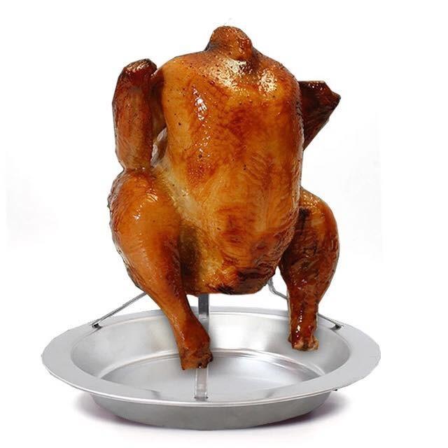 不鏽鋼桶仔雞架 滴雞精 紙箱烤雞 烤雞架 烤肉爐 烤肉架 桶子雞 露營 焚火台