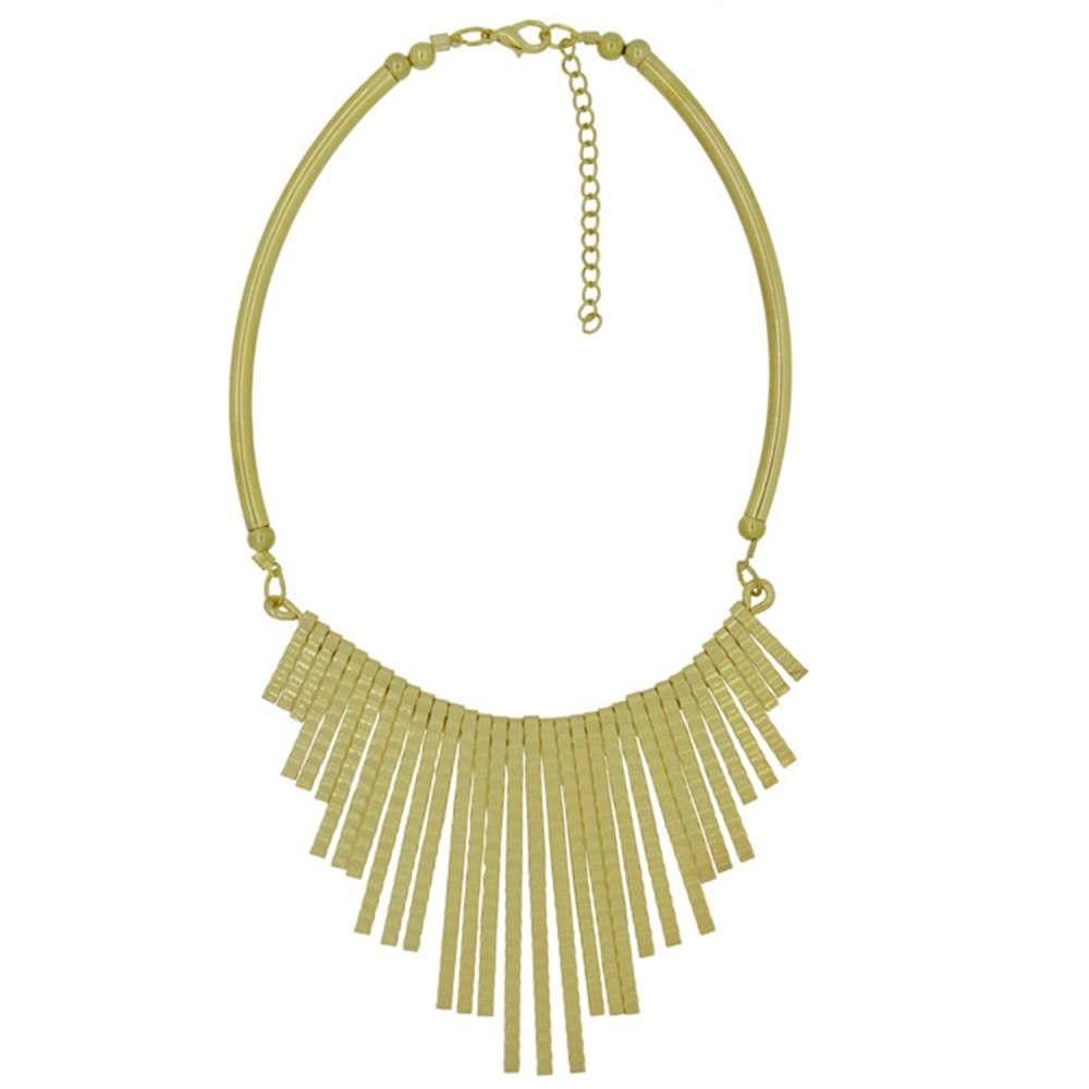 摩達客簡約流蘇扇形金色項鍊 (28915001016)