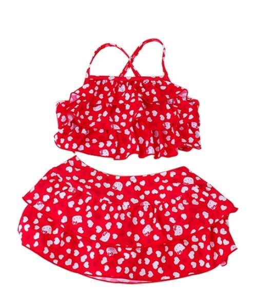 Hello Kitty 二截式泳衣110cm,兒童泳衣/泳裝/比基尼/泳具/游泳衣,X射線【C315279】