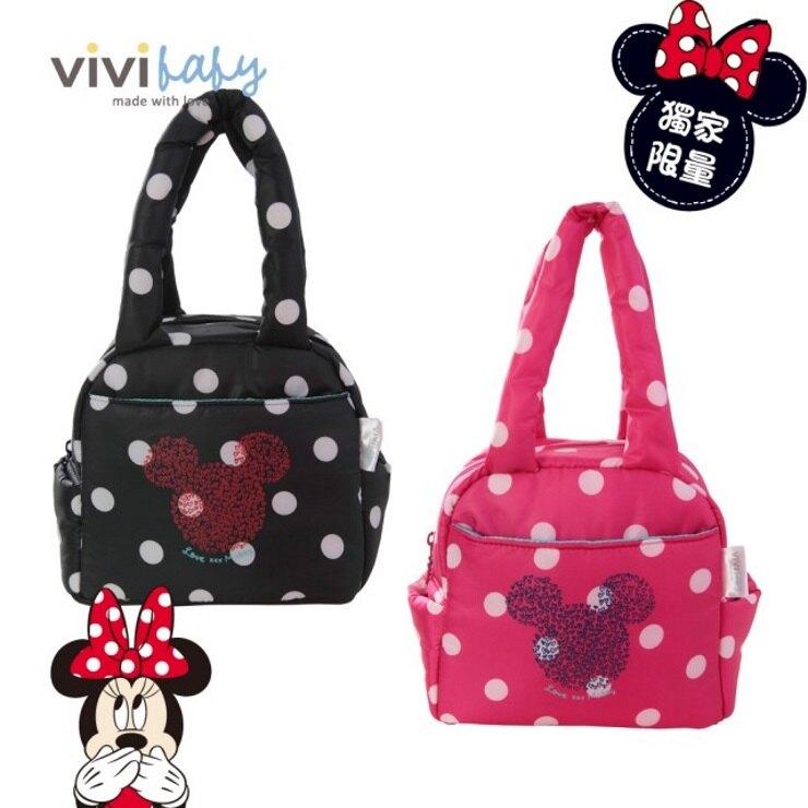 ViVibaby迪士尼空包-保冷袋(黑/粉)