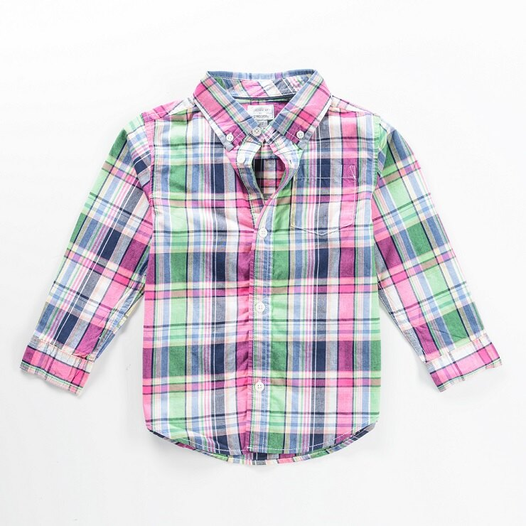 Gymboree 男童格子襯衫  3T/4T