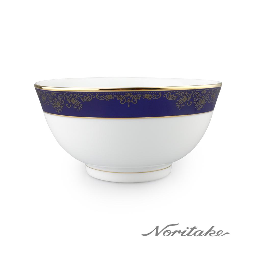 【NORITAKE】藍色樂章麵碗16cm