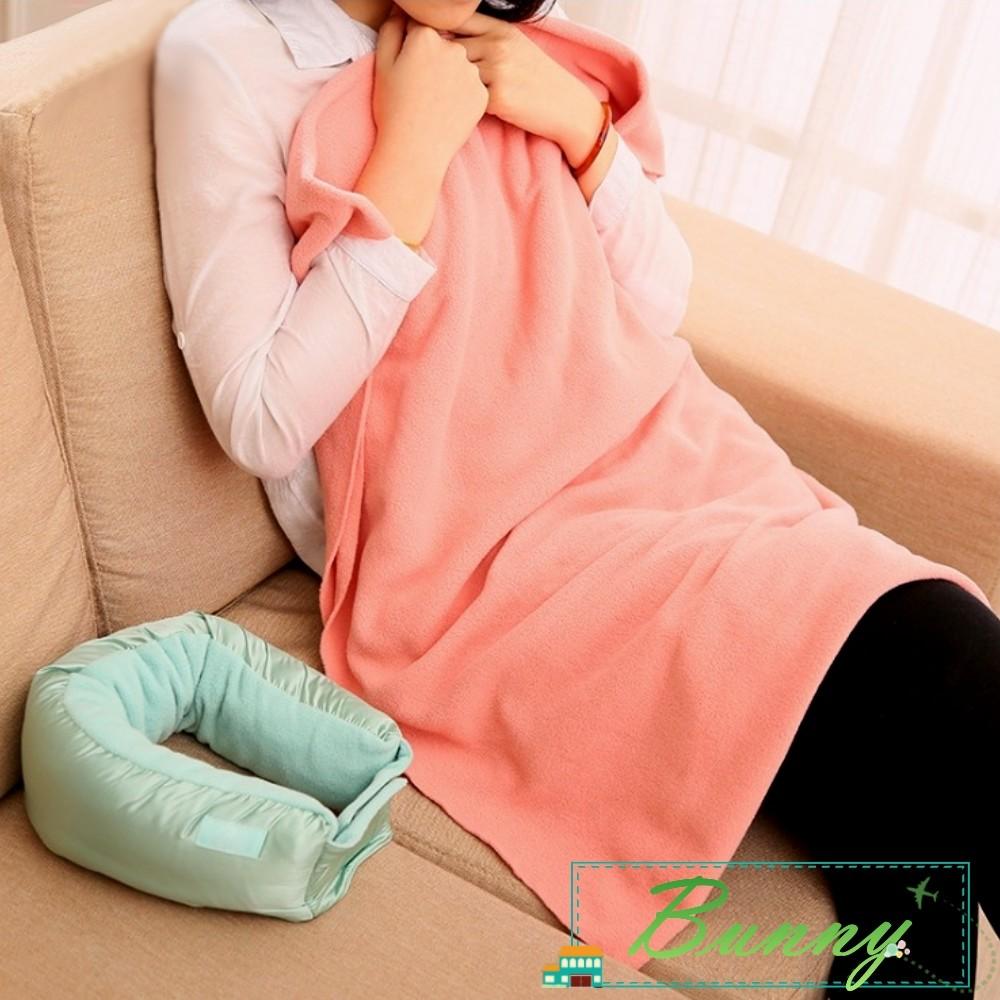 旅行三合一護頸u型枕多功能毛毯