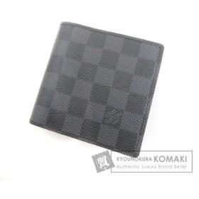 ルイヴィトン LOUIS VUITTON   ポルトフォイユ・マルコ N62664 二つ折り財布(小銭入れあり) ダミエキャンバス メンズ 中古