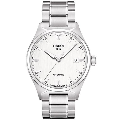 TISSOT天梭 T-Tempo 都會時尚機械腕錶-白/39mm T0604071103100